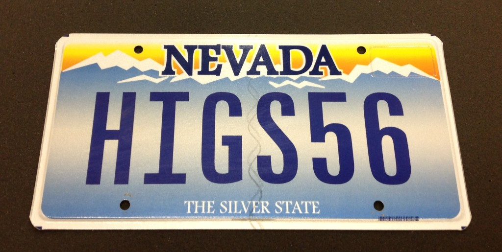 Higgs56 License Plate Photo